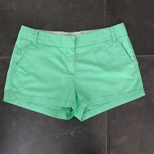 "J. Crew Chino ""Broken-In"" Mint Green Shorts"